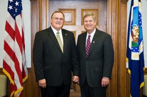 Bart Schott, National Corn Growers Association, Tom Vilsack, USDA