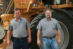 Owner's son Ron, left, and longtime facility manager Randy Goodman.