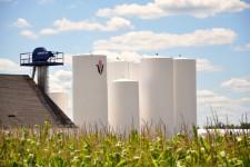 FS InVISION logo on Fertilizer Storage tanks