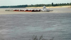 Barge On Mississippi