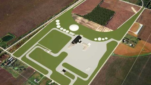 Aerial rendering of Trupointe Cooperative's Milford, IN, facility