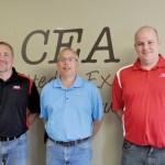 Rob Jacobs, Dave Muilenburg and Dan Jacobsma, CEA