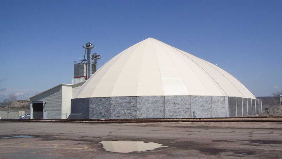 The New Dome Barrel Structure At Kinder Morganu0027s Dakota Bulk Terminal In St.  Paul, MN, Was Built By Dome Corp. The Structureu0027s Proximity To The  Mississippi ...