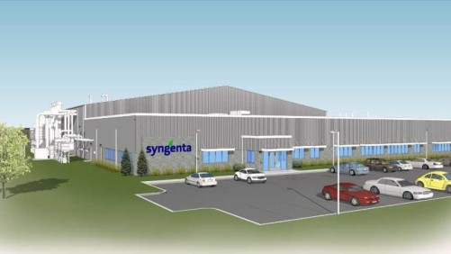 Rendering of Syngenta Seedcare Institute expansion