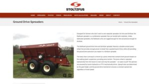 Stoltz Manufacturing Revamps Website for Agricultural Spreaders