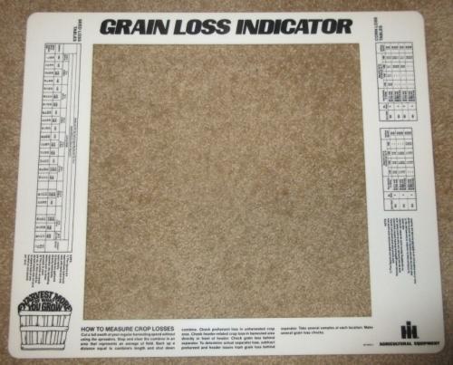Grain Loss Indicator