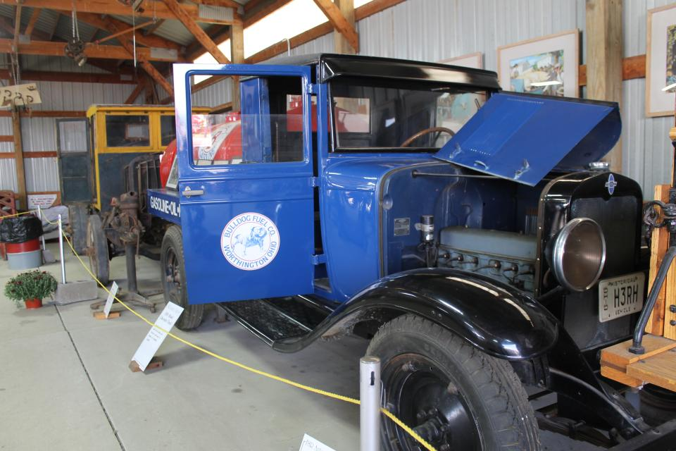 This delivery truck was the property of the Bulldog Fuel Co., located in Worthington, OH.