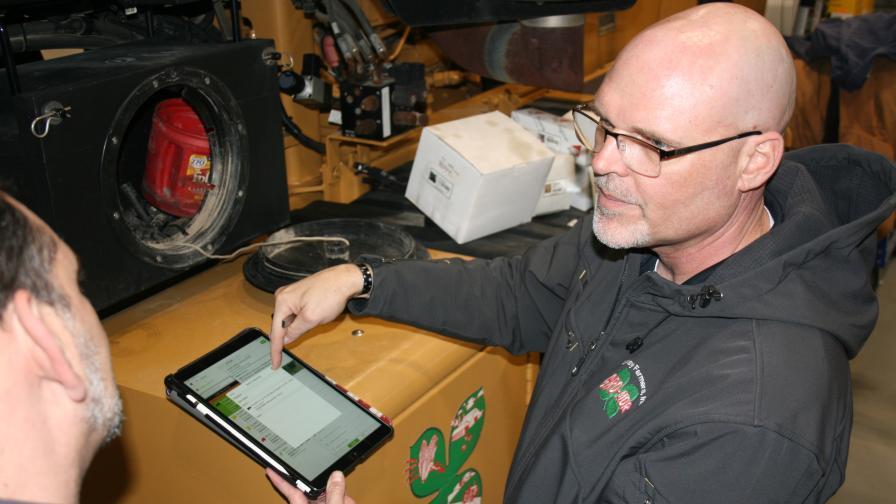 Andrew Gladden Luckey Farmers tablet