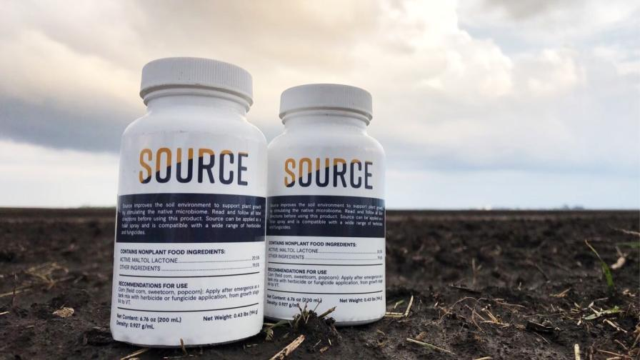 Applied as a foliar spray, Source works in the soil to activate beneficial microbes at the root zone.