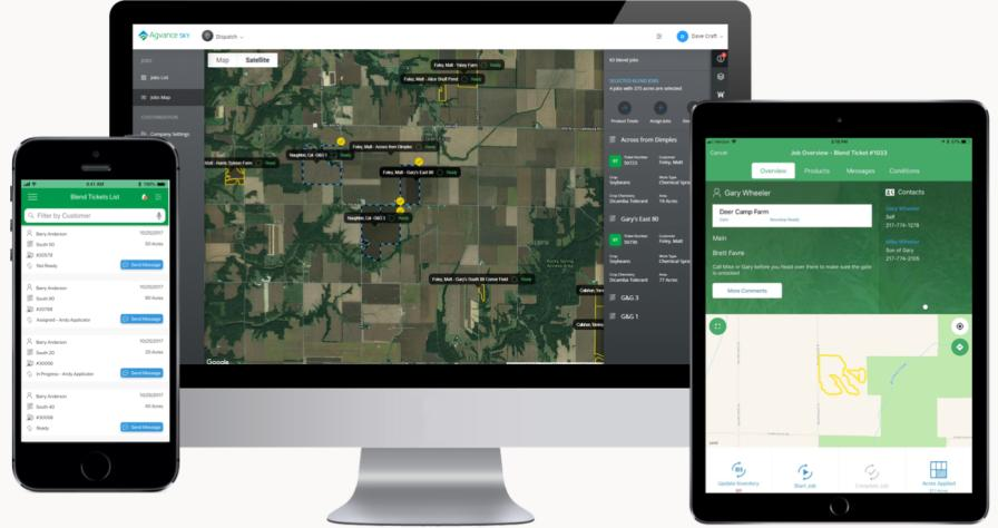 Agvance Blending was updated to integrate with other Agvance agronomy tools. Photo Courtesy: SSI